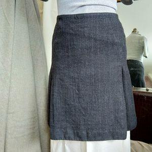 Ann Taylor herringbone tweed a-line skirt